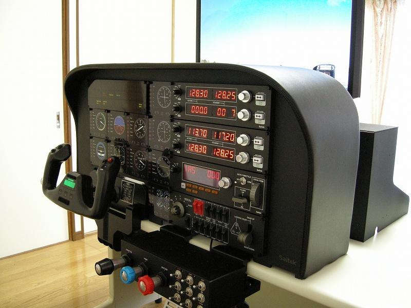saitek pro flight simulator cockpit shellの組み立て saitek